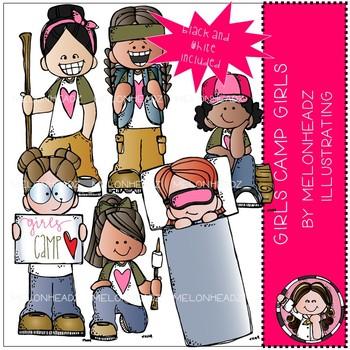 Girls Camp Girls clip art - Mini - LDS - Melonheadz Clipart