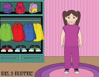 Girls' Errorless Dress Up File Folder Activity