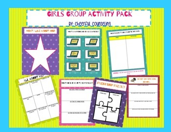 Girls Group, Self-Esteem, and Self-Confidence Bundle