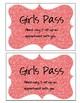Girls Hall Pass