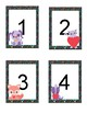 Girls Number Flashcards #1-20. Cute Heart Animals. Cats Dogs Skunk Fox