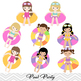 Girls Pool Party Clip Art Girls Swim Party Clip Art Summer Swim Pool Party 00197