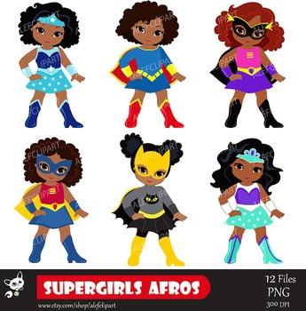 girls superhero clip art supergirl clipart african american rh teacherspayteachers com cute girl superhero clipart girls super hero clipart