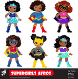 Girls Superhero clip art, Supergirl clipart, African ameri