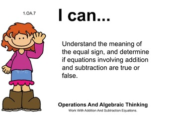 Girls Theme 1st grade math Common Core Posters first Grade Standards