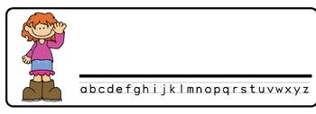 Girls Theme Desk Nameplates (Set of Four)