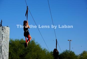 Girls Ziplining Stock Photo #112