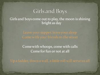 "Integrated Lesson: Rhyme/Music Lesson Kit-""Girls and Boys"" Nursery Rhyme"