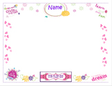 Girls on the Run Positive Statement Signing Sheet