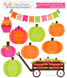 Girls Pumpkin Patch Clipart