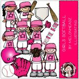 Girl's softball clip art- by Melonheadz