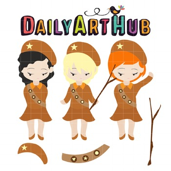 Girlscout Clip Art - Great for Art Class Projects!