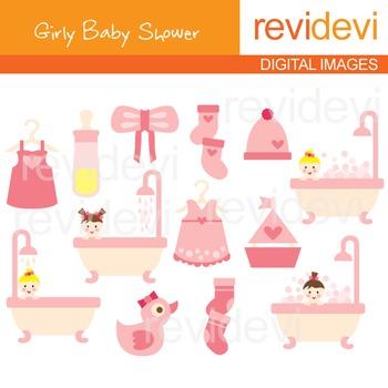 Girly Baby Shower Clip art