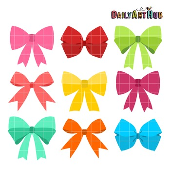 Girly Bows Clip Art - Great for Art Class Projects!