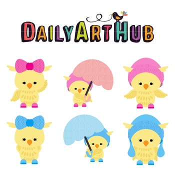 Girly Chick Clip Art - Great for Art Class Projects!