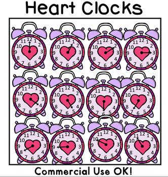 Girly Clocks Clipart