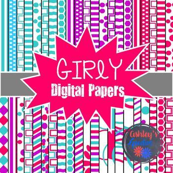 Girly Digital Paper Set
