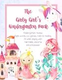 Girly Girl Kindergarten Review Pack