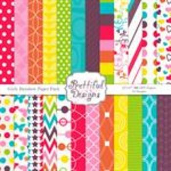 Girly Rainbow Paper Pack