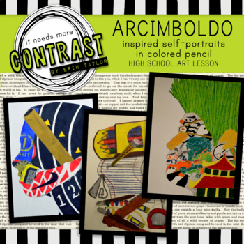 Giuseppe Arcimboldo Inspired Self-Portrait Art Lesson and Worksheet Packet