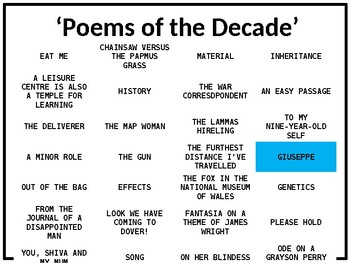 Giuseppe - Richard Ford - Poems of the Decade