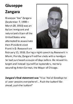 Giuseppe Zangara Handout