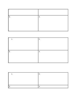 Give 1, Get 1 Graphic Organizer