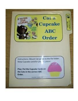 Give A Cat a Cupcake ABC Order (file folder)