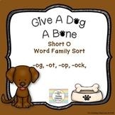 Give A Dog A Bone - Short O Word Sort