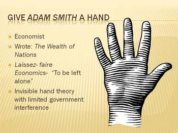 Give Adam Smith a Hand (Free Market Foldable)