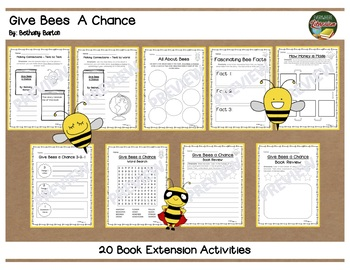 Give Bees a Chance by Barton 20 Book Extension Activities NO PREP