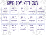 Give Joy Get Joy Kindness Challenge