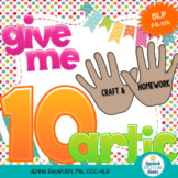 Give Me 10: Articulation (100 trial craft & homework set)