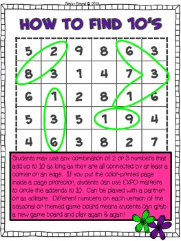 Give Me 10 For Earth Day - Common Core Math Operations & Algebraic Thinking