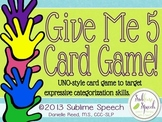 Give Me 5!: A Categorization Game