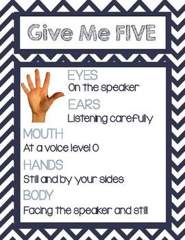 Give Me 5 Behavior Sign