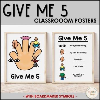 Give Me 5 (Boardmaker Symbols) by Michelle Jung | TpT