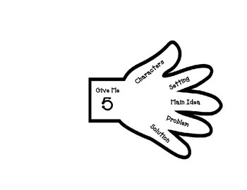 Give Me 5 Comprehension Hand K-3: Characters, Setting, Pro