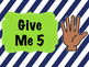 Give Me 5 Computer Lab Posters- Navy & Lime