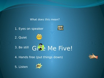 Give Me 5! - Getting Students' Attention