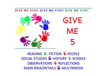 Give Me 5! Let's Read, Observe, Note, and Write.