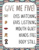 Give Me 5 Quiet Signal Posters {Coral, Teal & Tan Tribal}