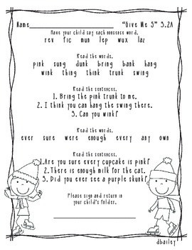 Give Me 5 Reading Street Grade 1 (2007) Book 3 Homework