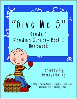 Give Me 5 Reading Street Grade 1 (2007) Book 5 Homework