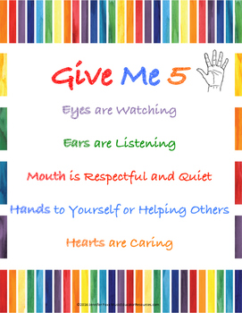 Give Me 5 Rule Posters