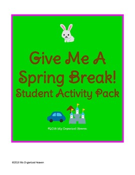 Give Me A Spring Break Spelling Activity Pack