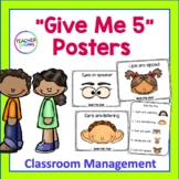 Give Me Five Posters | Classroom Rules Posters