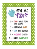 """Give Me Five"" - Attention Signal Sign"