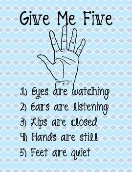 Give Me Five Classroom Management