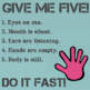 Give Me Five Classroom Management Posters